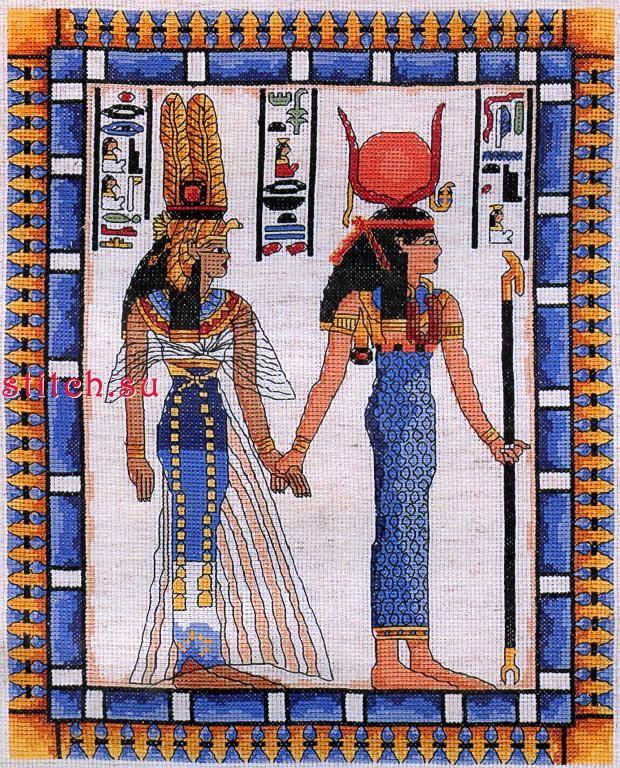 Вышивка бисером египетская тема 66
