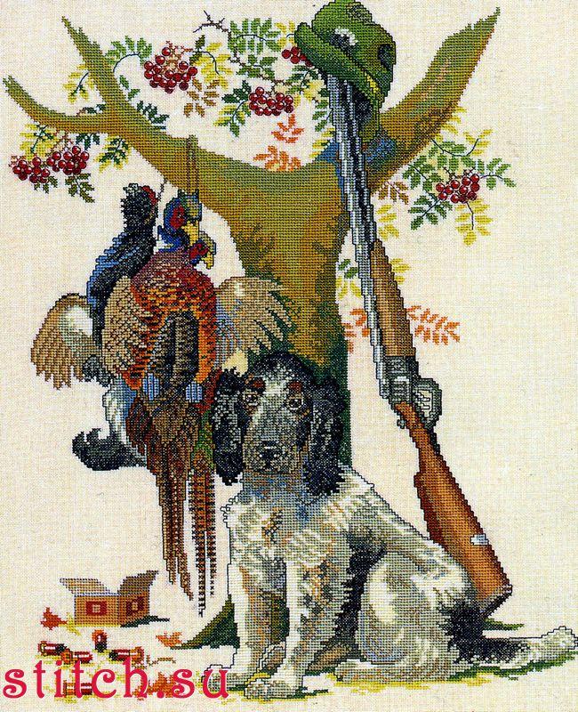 Скачать схемы вышивки крестом охота