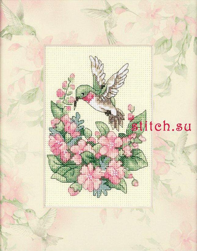 Hummingbird Bliss (Очарование колибри).  Набор для вышивания мини-панно.