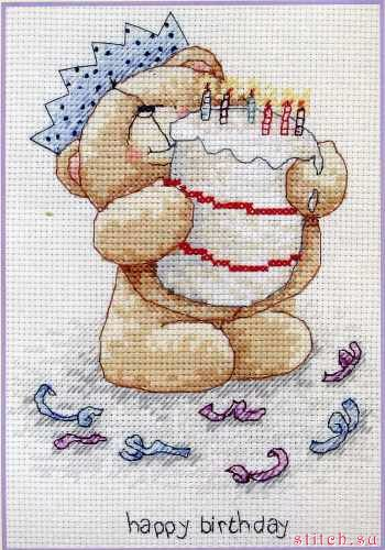 Вышивка крестом с днем рождения маленькие