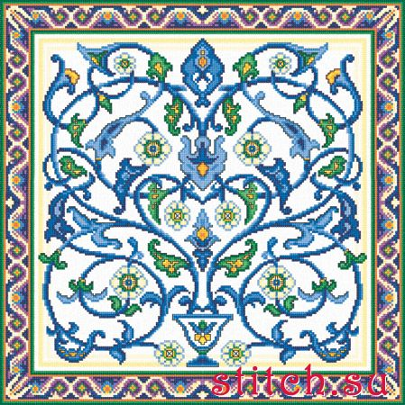 Татарский орнамент для вышивки схема