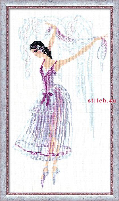Схема вышивки балерина риолис