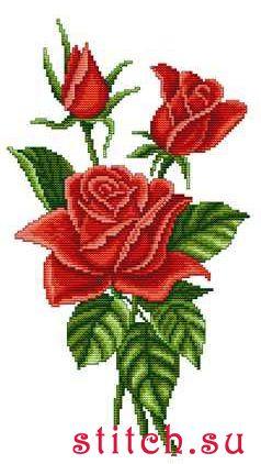 """Вышивка крестиком: Набор для вышивания  """"Букет красных роз """" ."""