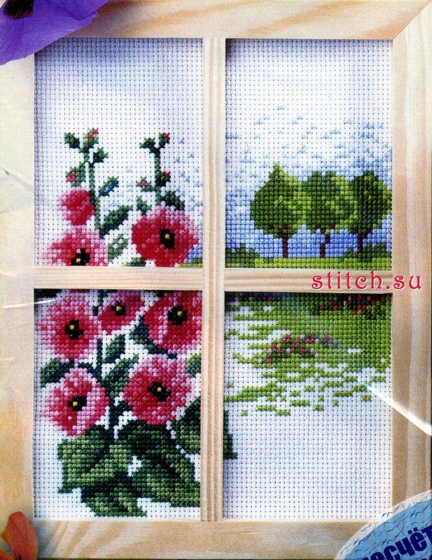 """Схема вышивки  """"Окно 2 """": предпросмотр."""