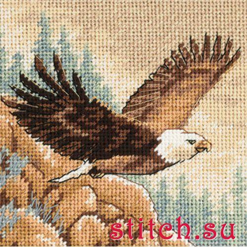 Вышивка крестом два орла 36