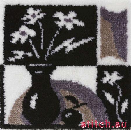 Вышивка в ковровой технике.