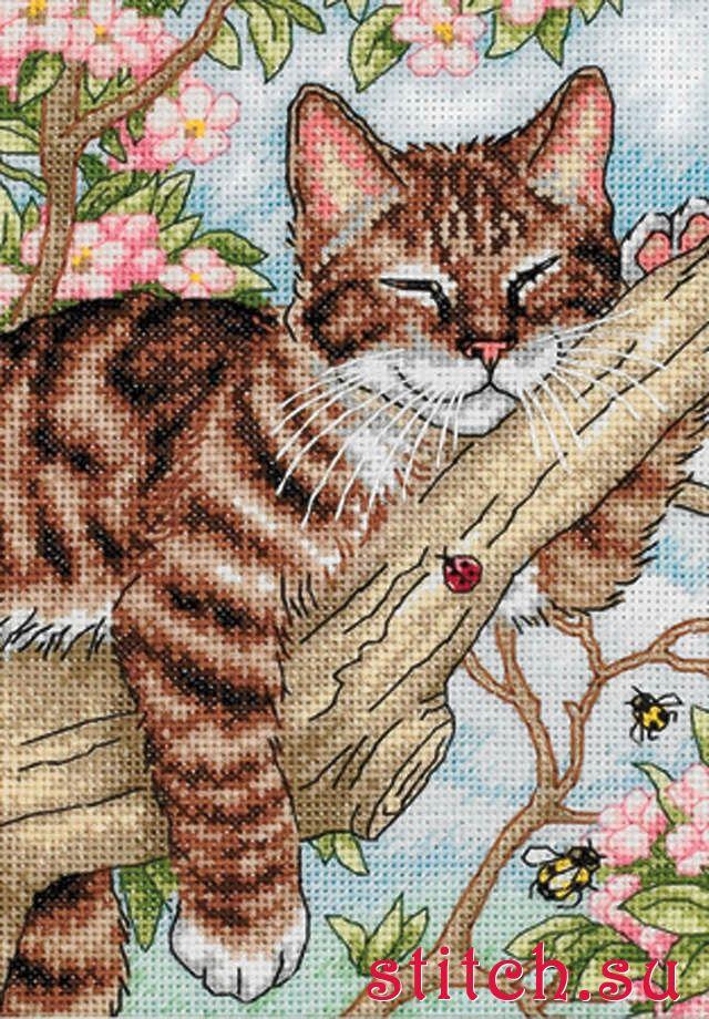 Набор для вышивки котики 403