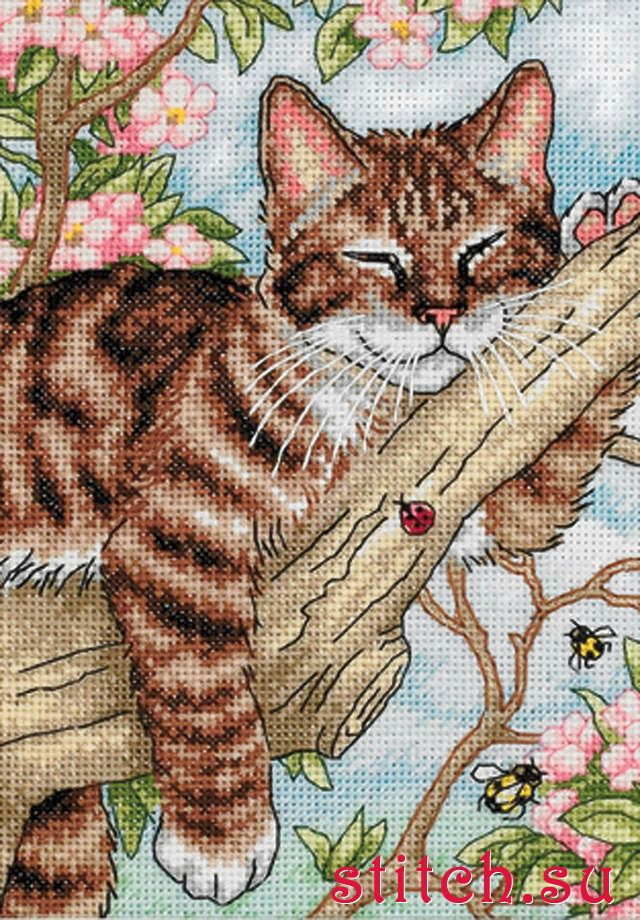 Вышивки крестом кошки фото 9