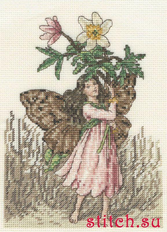 схемы вышивки крестом фея