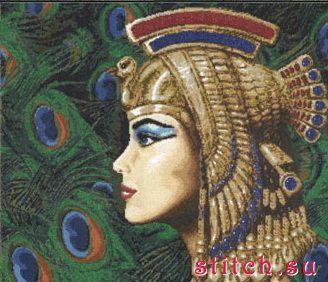 Золотое руно А-001 Принцесса Египта скачать.  Схема вышивки крестиком.