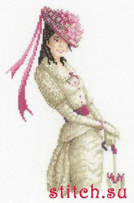 Рхема вышивки Девушка с