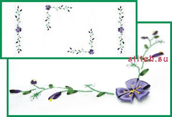 112.1 грн.  Канва-салфетка, мулине Anchor, ленты (Испания) - 4 цвета, иглы, цветная схема.