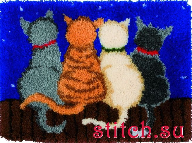 Ковры своими руками с котами