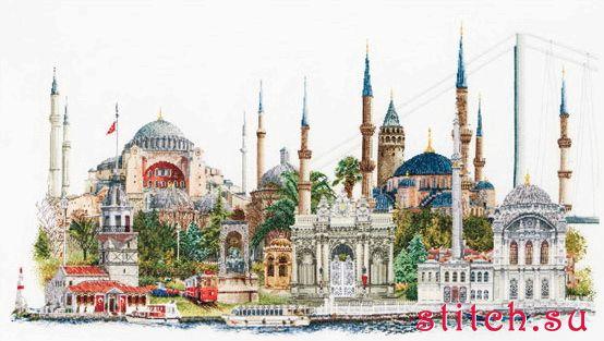 """Набор для вышивания крестиком  """"Стамбул """" (Аида) ."""