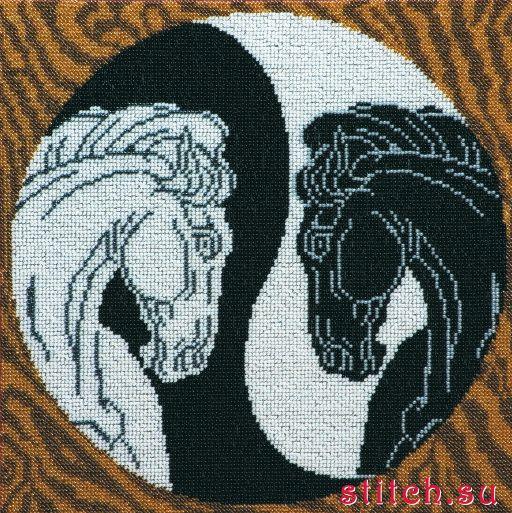 Инь янь вышиваем бисером