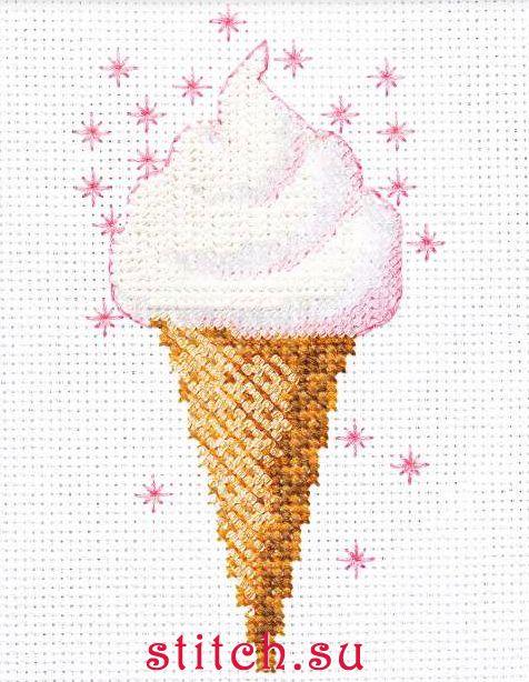 Набор для вышивания бисером Риолис 1317 (Мороженое) .