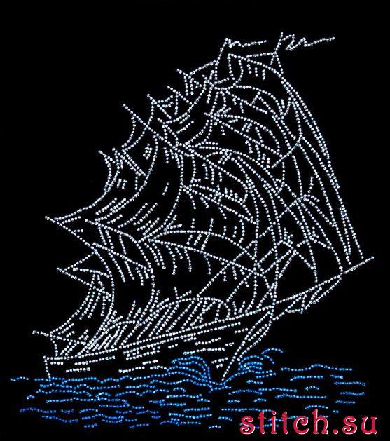 Вышивка бисером корабли