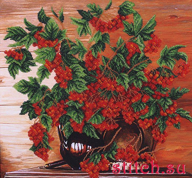 Вышивание бисером Калина красная, Магия канвы Б-095 купить в санкт петербурге Шале, Для бисерной вышивки.