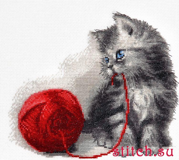 Как нарисовать котёнка для вышивки
