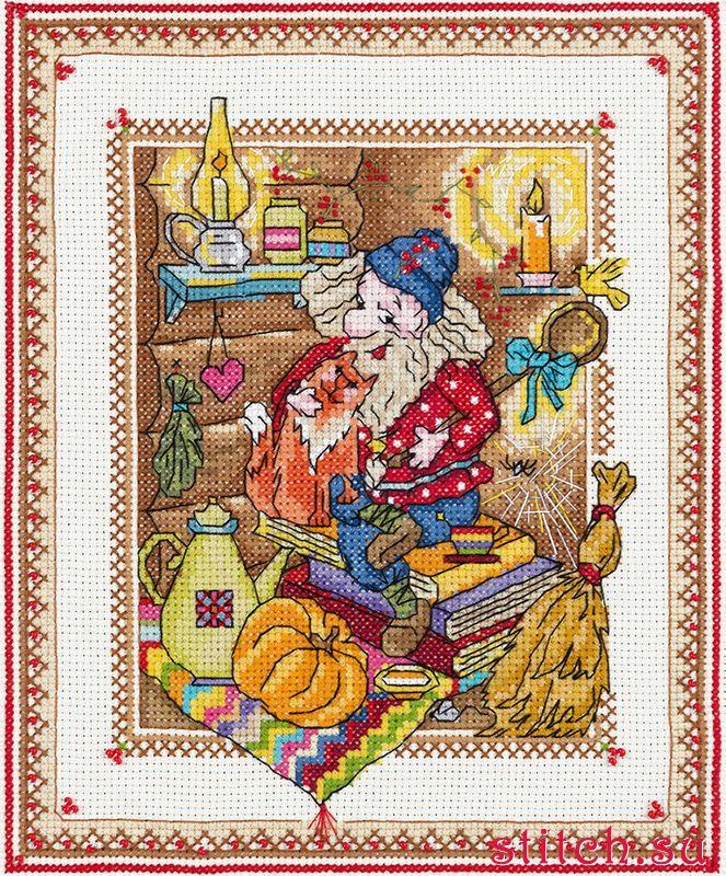 Схема вышивки домовой в семье покой 6