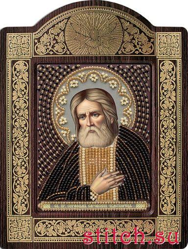 Вышивка крестом серафим саровский 10