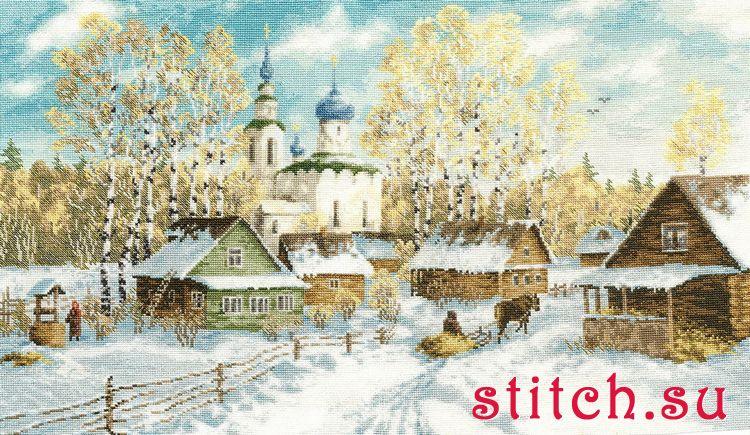 Деревенская зима золотое руно схема вышивки