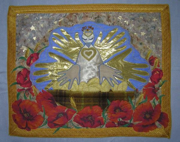 вышивка крестом герб россии