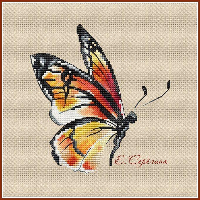 Бабочка шоколадница вышивка схема 50