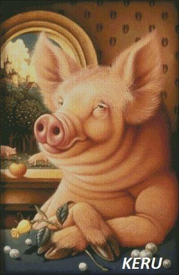 Открытки клипарт, смешные картинки идет год свиньи