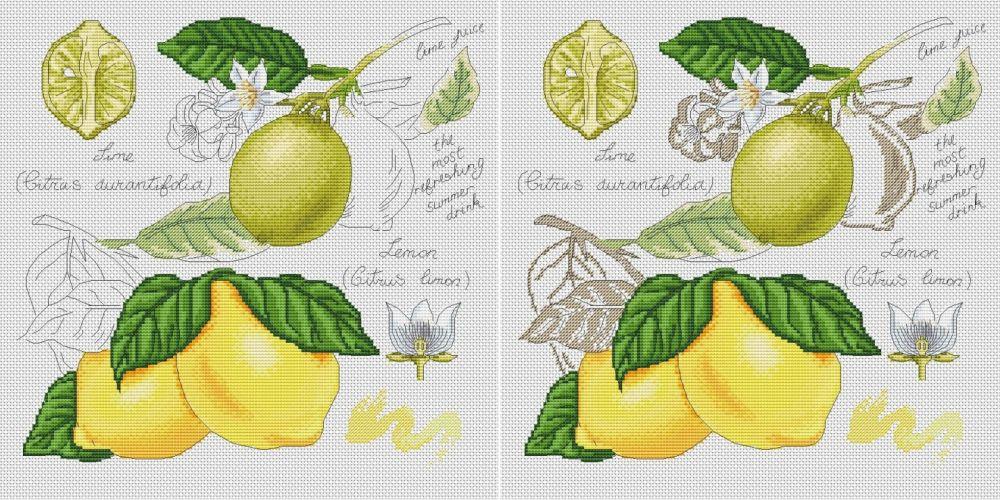 Схема вышивки крестом Лимон : Онлайн-мастерская вышивки 1