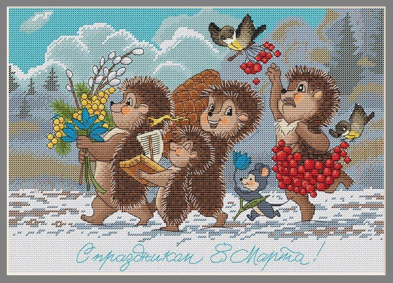 Схема вышивки по старым открытками, картинки поздравления