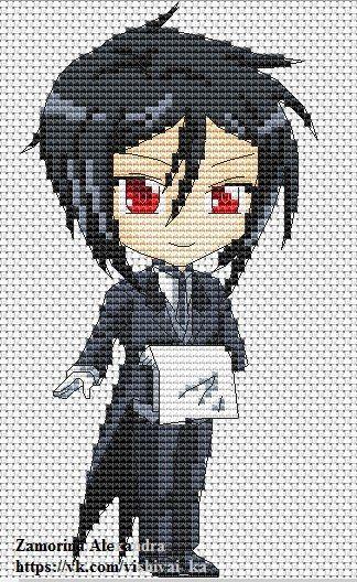 Схемы вышивки крестом бесплатно аниме