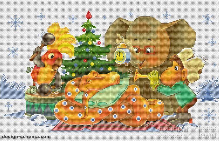 Схема вышивки советские открытки 17