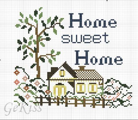 Home вышивка крестом 51