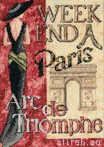 Паспарту и рамка в... Набор для вышивания Уикенд в Париже, Dimensions 65049 купить в санкт петербурге Шале, Aida 18...