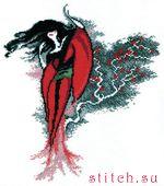 Купить набор для вышивания крестиком Чаривна Мить Японка на ветру (арт.  326) в магазинчике рукоделия fuby.ru.