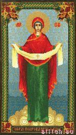 Образ Пресвятой Богородицы Покрова, 21х37, счетный крест.
