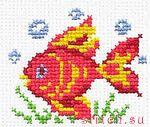 """Набор для вышивания крестиком  """"Волшебная рыбка """" ."""