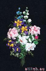Расширенное описание для Набор для вышивки лентами Праздник цветов.