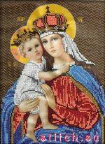 Мария с младенцем.  Набор для вышивания бисером.