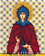 Чаривна мить (Волшебное мгновение).  577 руб.Рукоделов.  Икона святой преподобной Апполинарии, 9х11, вышивка бисером.