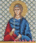 Икона святой мученицы Христины, 9х11, вышивка бисером.  Б-1162.  Чаривна мить (Волшебное мгновение).
