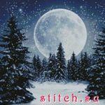 """Артикул: 98757 Наименование: Набор для вышивания Kustom Krafts  """"Зимняя луна """" Производитель: Kustom Krafts Техника..."""
