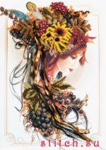 В набор входит: бисер Чехия 28 цветов, металлизированное мулине 5 цветов, ленты атласные двухсторонние (Испания)...