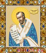 Nova Sloboda.  Св. Иоанн Златоуст, 13х15, вышивка бисером.