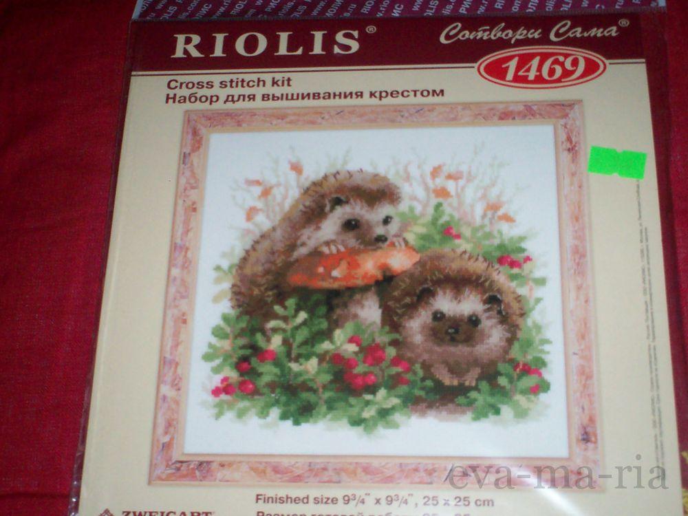 Вышивка ежики от риолис