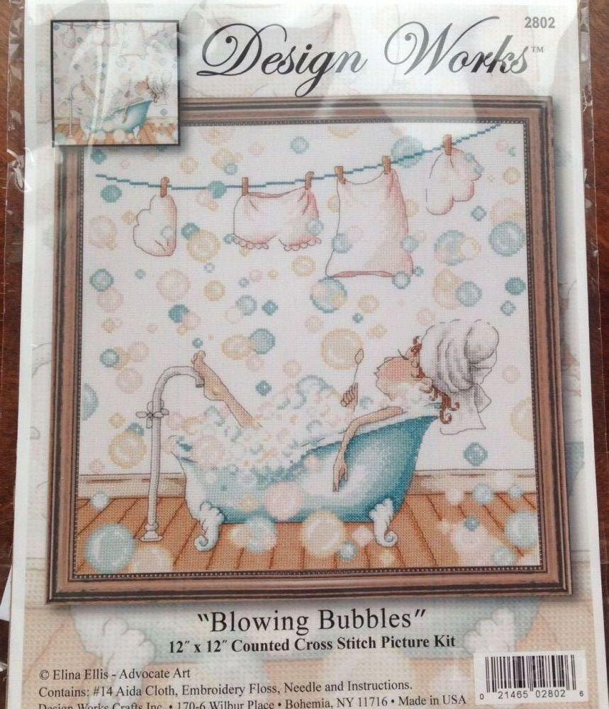 Blowing bubbles вышивка