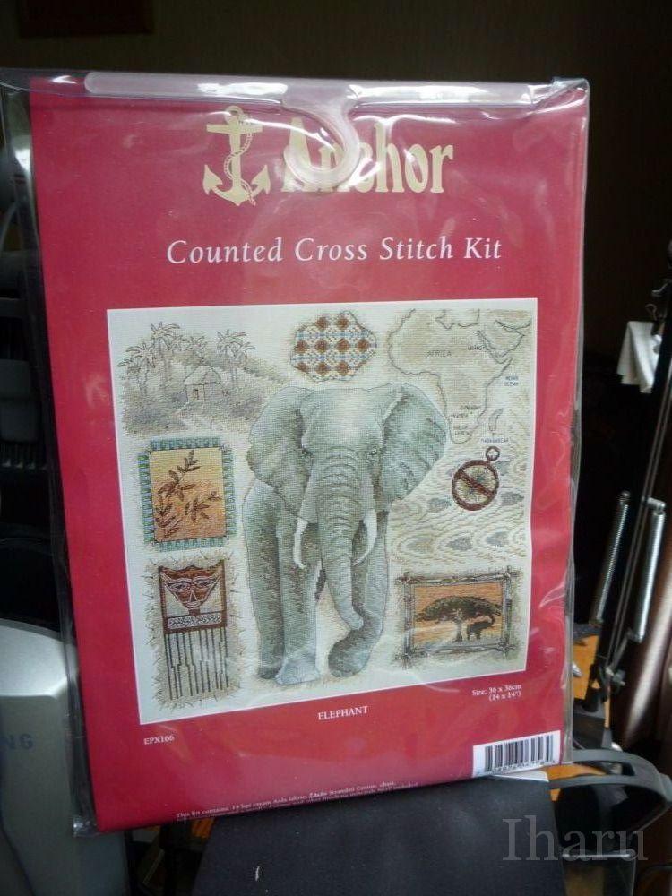 Анкор вышивка слоны