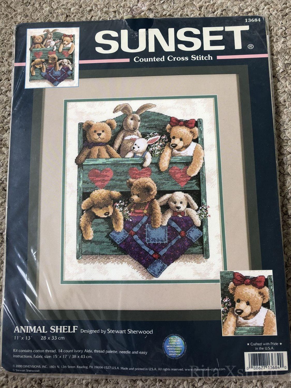 13684 animal shelf схема вышивки 58