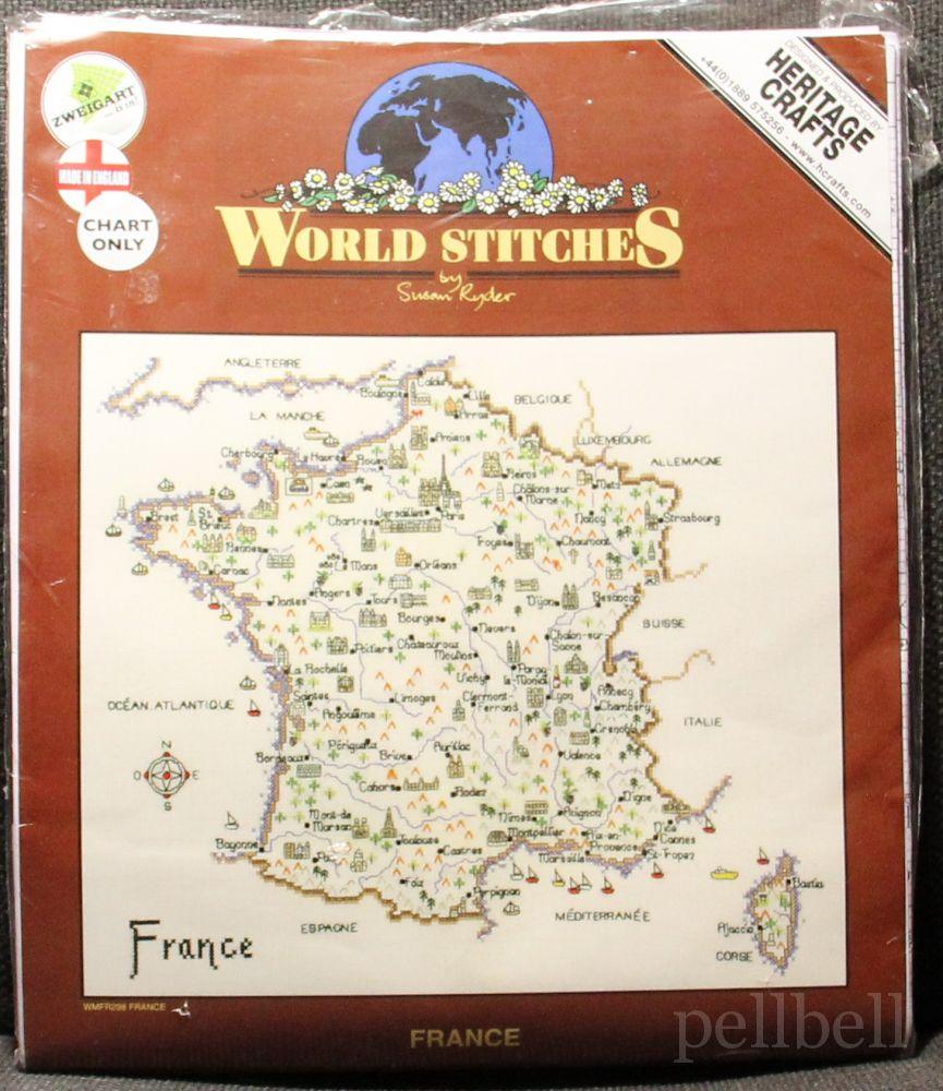 схемы вышивки карты франции